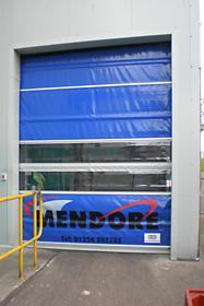 Non-insulated heavy duty roller door & Mendore - Rapid Action Climate Control Roller Doors